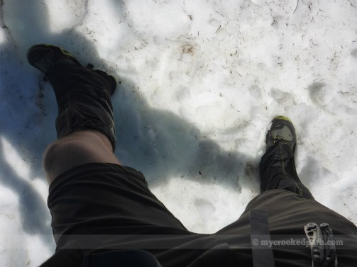 Gaiters and shorts – always a classy combo!