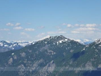 Glacier Peak hiding behind Preacher Mountain