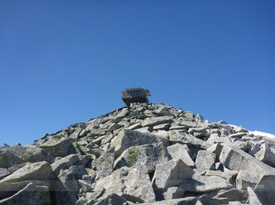 Nestled atop the boulder field