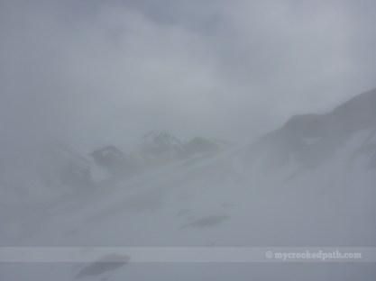 Glacier Peak in the fog