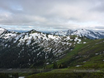 Looking back toward White Pass