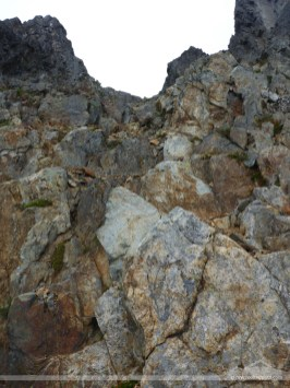 This is the first pitch from the base of the summit block