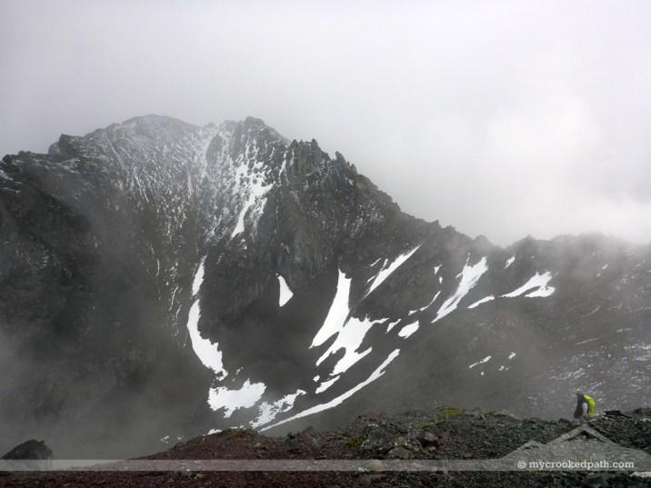 Gardner Mountain and the ridge between Point 8487