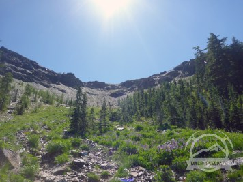 Back up to Longs Pass