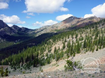 Trail to Lake Ingalls in the distance