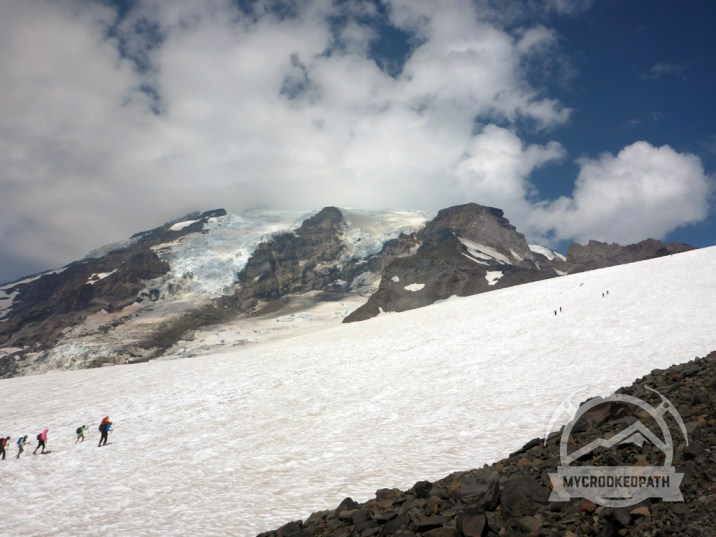 Rainier above the Muir snowfield
