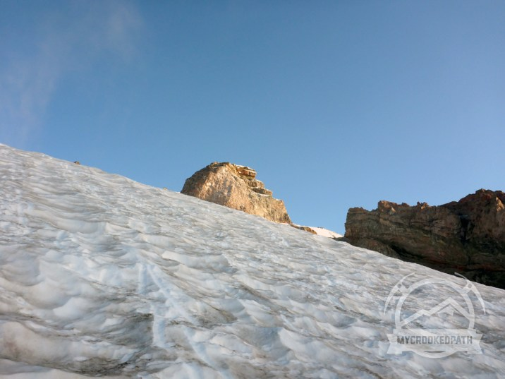 Gibraltar Rock with a fresh dusting of snow