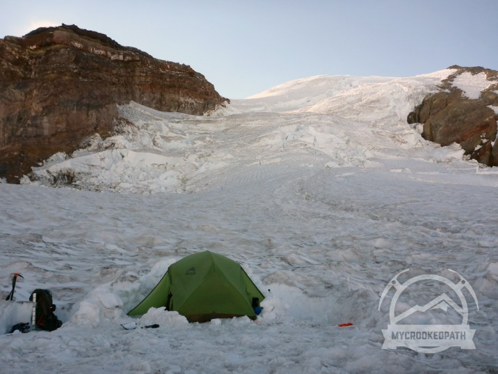 Camp on the Ingraham Glacier, 11,100'