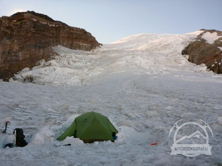 Camp on the Ingraham Glacier, 11,100'