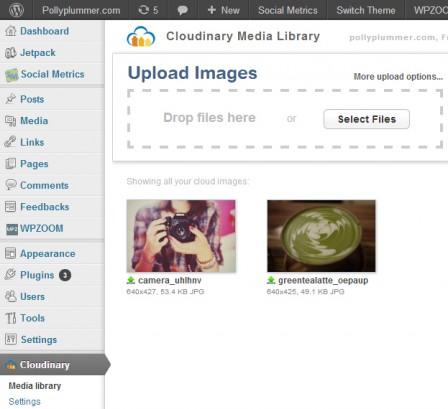 Cloudinary Media Library