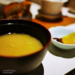 set of rice + soup + pickles