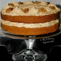 Coffee And Walnut Cake With Coffee Buttercream
