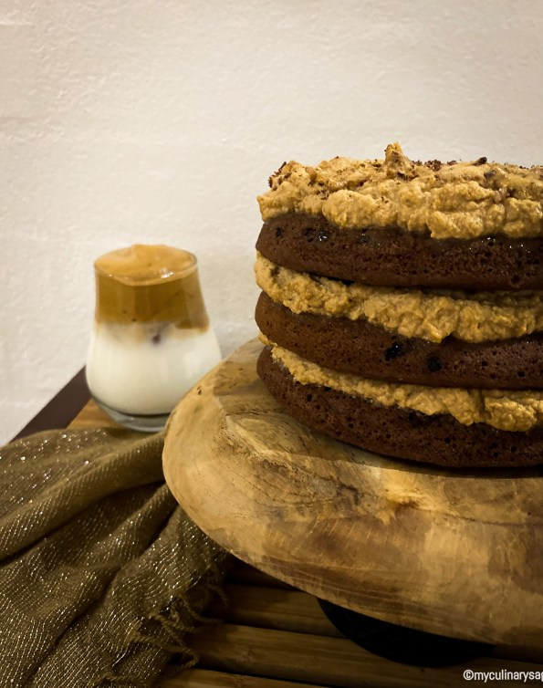 Dalgona Coffee Chocolate Cake