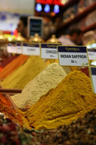Spice market in Istanbul.