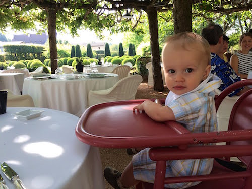 baby at a michelin starred restaurant