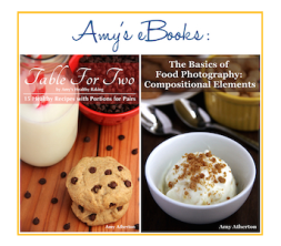 Link in the sidebar to Amy's Books