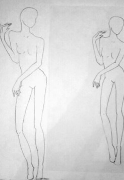 My sketch is on the left