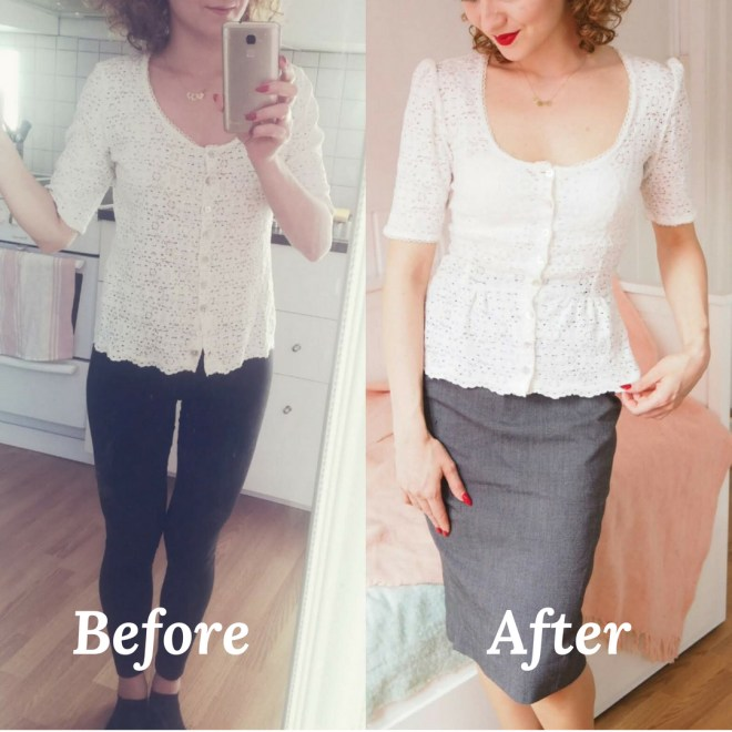 DIY vintage shirt refashion