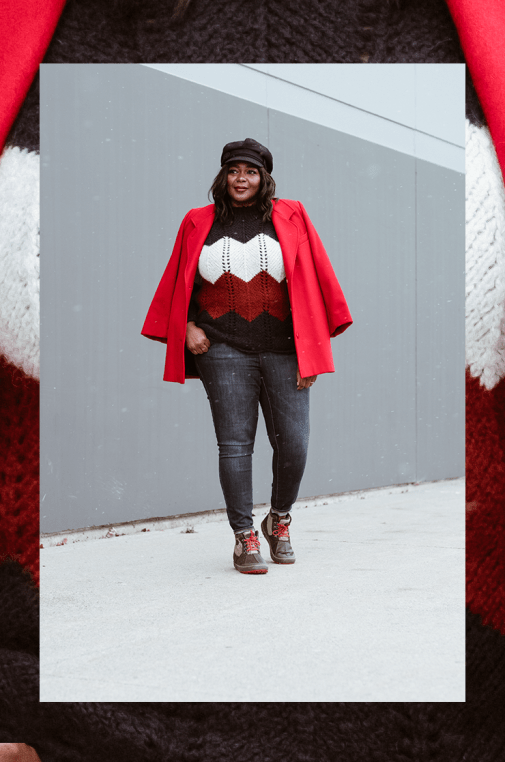 Best Stylish Winter Boots For Women- Casual winter outfit #plussize