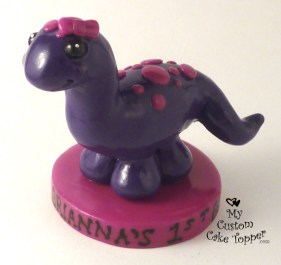 Baby Dino Birthday Cake Topper