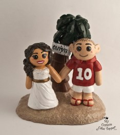 Bride and Groom Beach Wedding Cake Topper