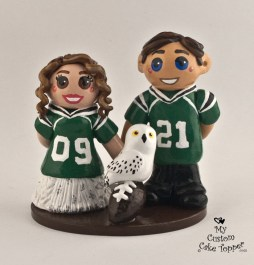 Bride and groom football and harry potter fans!