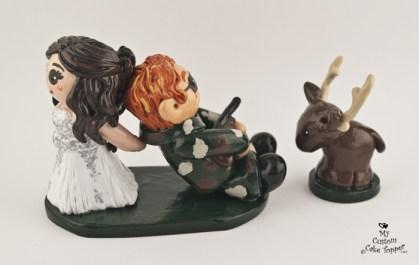 Bride Dragging Her Groom from Hunting Deer