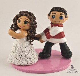 Bride And Groom Runaway Cake Topper