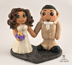 Bride And Groom Shabby Chic Cake Topper