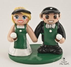 Bride And Groom Met At Starbucks Cake Topper