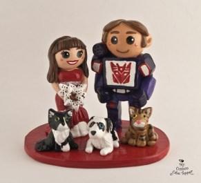 Bride And Groom Transformer Cake Topper