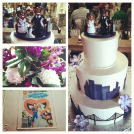 Tale of Two Cities Wedding Cake Topper