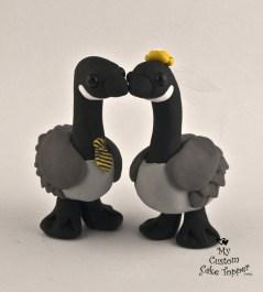 Canadian Geese Custom Wedding Cake Topper