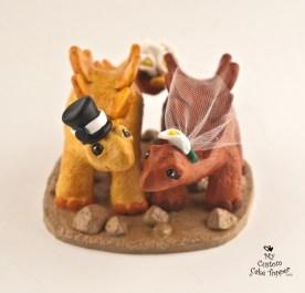Dinosaurs Stegosaurus Bride and Groom Cake Topper