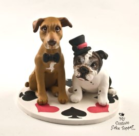 Dog Wedding Cake Toppers