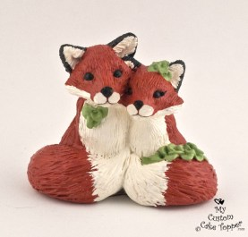 Fox In Love Cake Topper