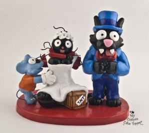 Itchy And Scratchy With Bomb Bride The Simpsons Cake Topper