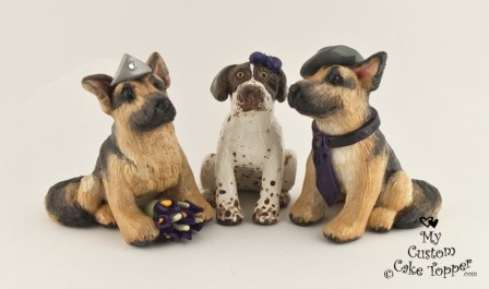 Custom Dogs Cake Topper