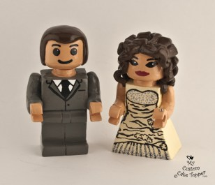 Lego Bride And Groom Wedding Cake Topper