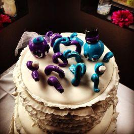 Lindsay's Octopus Wedding Cake Topper