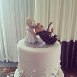 Marta's Dragging Her Fishing Groom Cake Topper