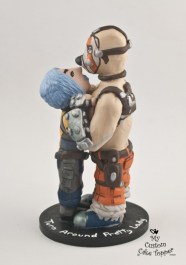 Maya And Krieg From Borderlands Wedding Cake Topper