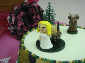 Melissa's Hunting Wedding Cake