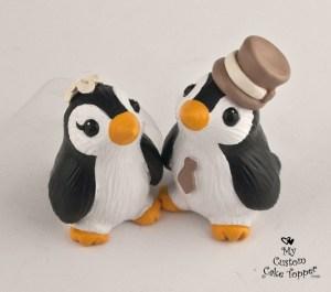 Cute Penguins Wedding Cake Topper