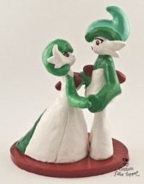 Pokemon Gallade Wedding Cake Topper