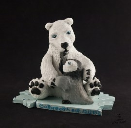 Polar Bear and Penguin Cake Topper