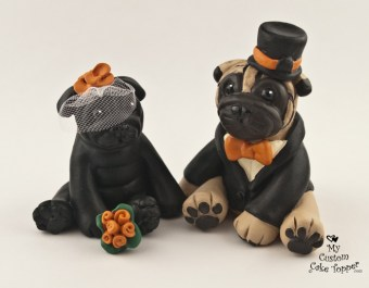 Pugs in Black and Fawn
