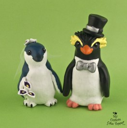 Rockhopper and Fairy Penguin Cake Topper