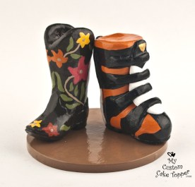 Shoes Cowgirl Boot Motor Cross Boot Cake Topper