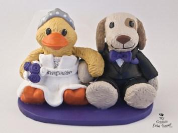 Stuffed Animals Wedding Cake Topper
